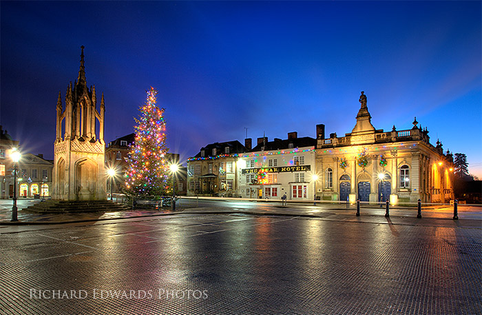 Devizes Marketplace at Christmas