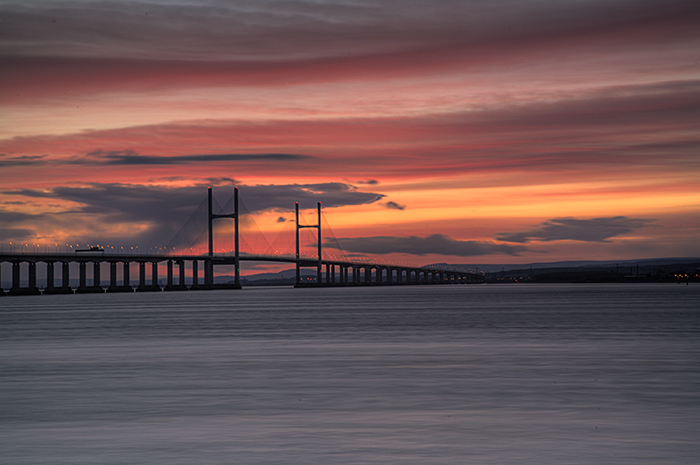 Dusk at the Second Severn Crossing