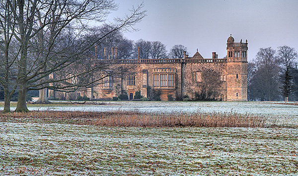 Lacock Abbey in Frost