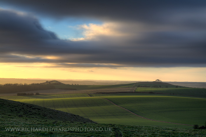 Dawn over the Pewsey Downs
