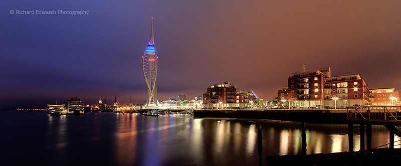 Portsmouth Habour at Night