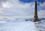 Lansdowne Monument in Snow (No.2)